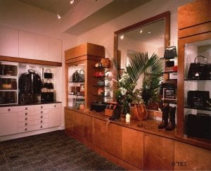 Main Showroom area where Alligator products other than belts were displayed. Locked storage is concealed under the display fixtures.