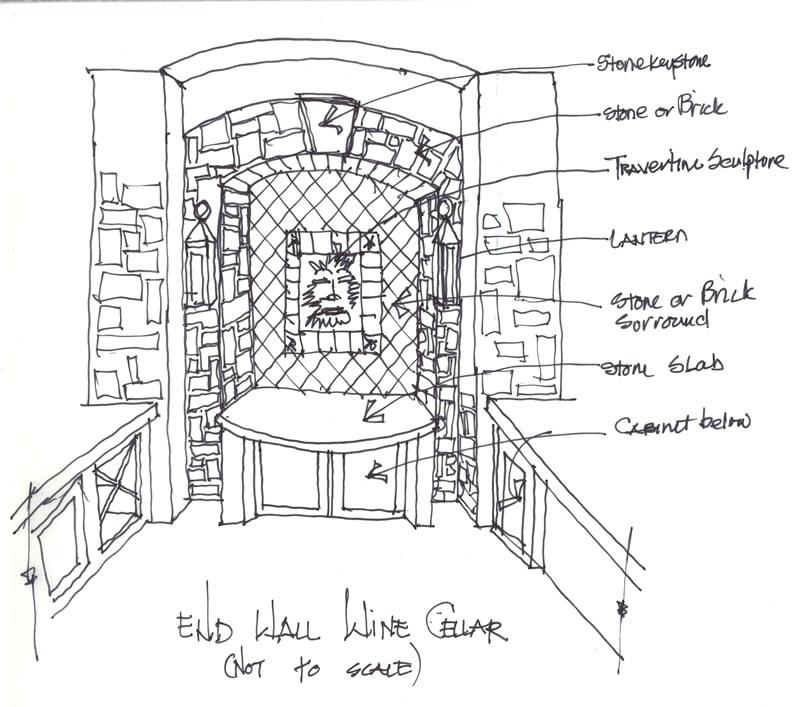 Wine Cellar Sketch