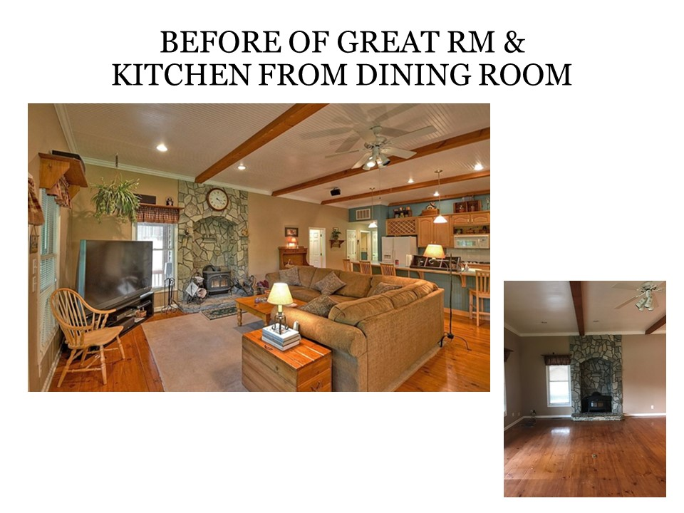 Before of Great Room and Kitchen