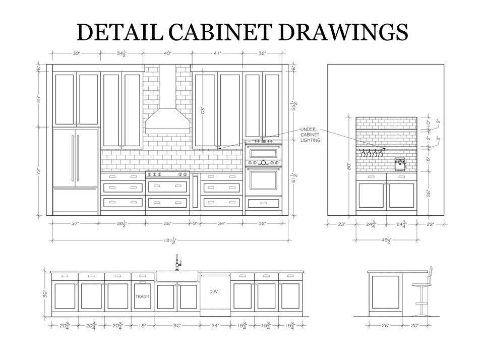 Detailed Cabinet Drawings