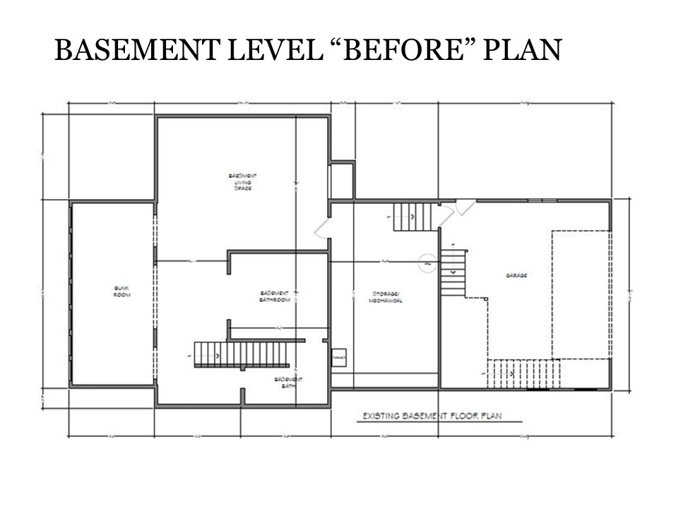 Basement Level Before Plan