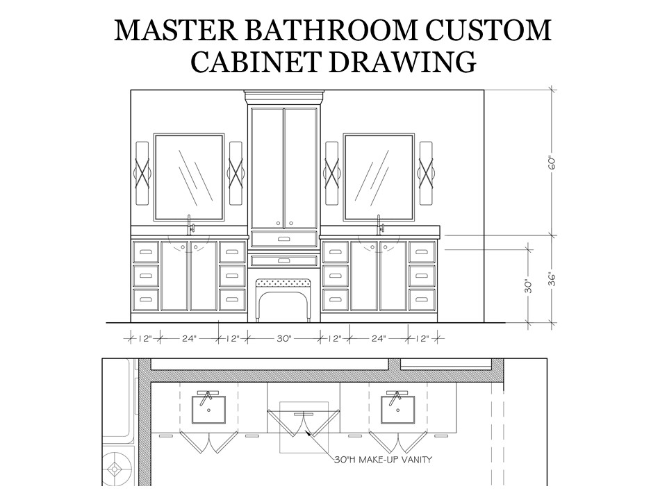 Master Bathroom Custom Cabinet Drawing