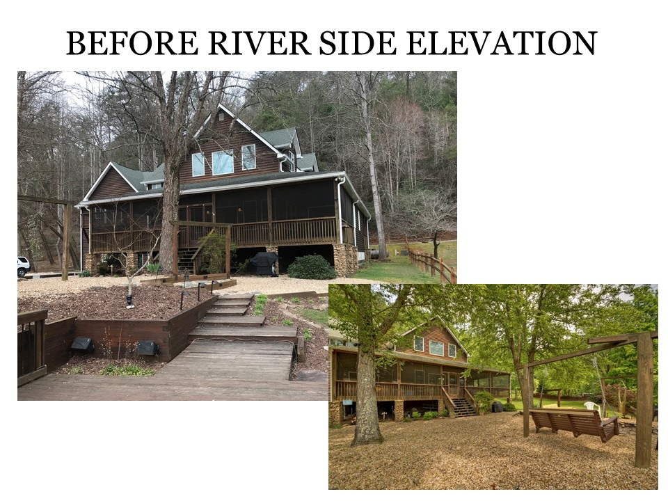 Before River Side Elevation