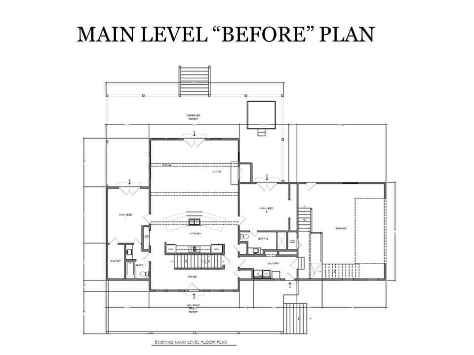 Main Level Before Plan