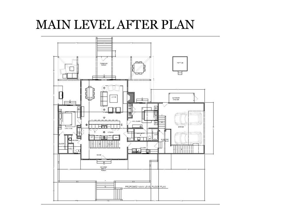 Main Level After Plan