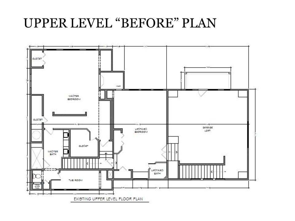 Upper Level Before Plan